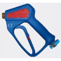 Pistola para equipos de alta presión de agua con racord giratorio.